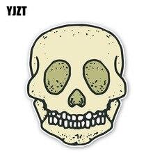 YJZT 11.7CM*14.5CM Personality Skull Head Fashion Car Body Car Sticker Decal Accessories 6-2422