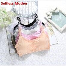 5 pcs/lot enfant coton soutien-gorge pour jeunes filles enfants sous-vêtements adolescents sans fil petite formation puberté Bras sous-vêtement vêtements