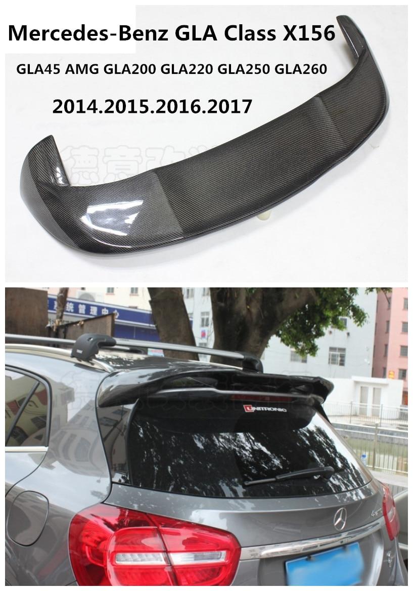 Carbon Fiber Spoiler For Mercedes-Benz GLA Class X156 GLA45AMG GLA200 GLA220 GLA260 2014-2019 Wing Spoilers High Quality Accessories