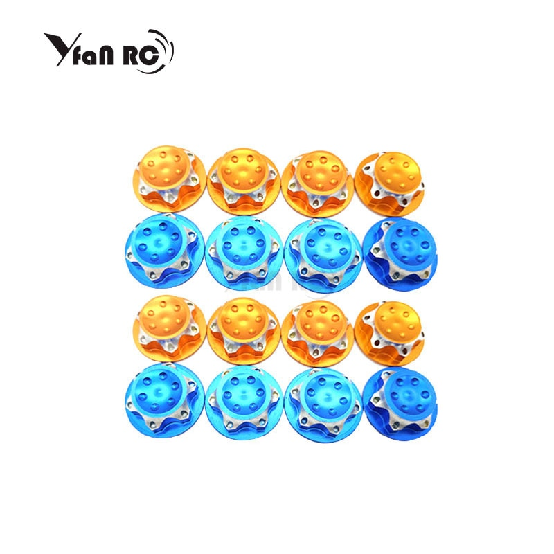 Yfan RC 4Pcs RC Buggy hsp 1/8 Scale 17mm Dust Lock Nuts Adapter for RC Off-Road Truck Redcat LOSI Team-C Wheel and Rims Nut