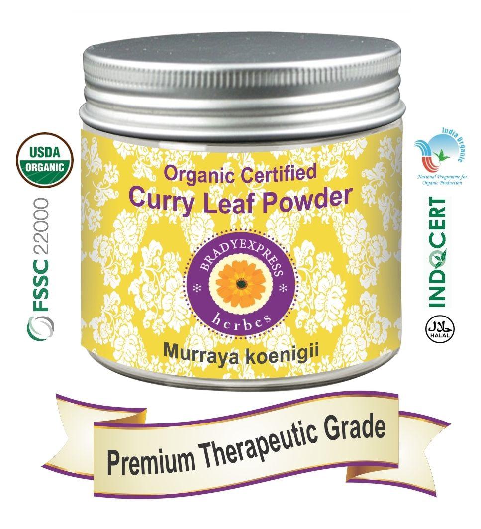 FRee Shipping Organic Certified Curry Leaf Powder Murraya koenigii 200gm 100% Natural New