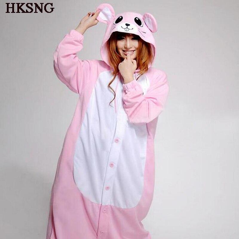 Pijama de ratón HKSNG rosa y azul, pijamas de invierno con dibujos animados para mujer, disfraz de Kigu para adultos y chicas, pijamas para fiestas de Kigur