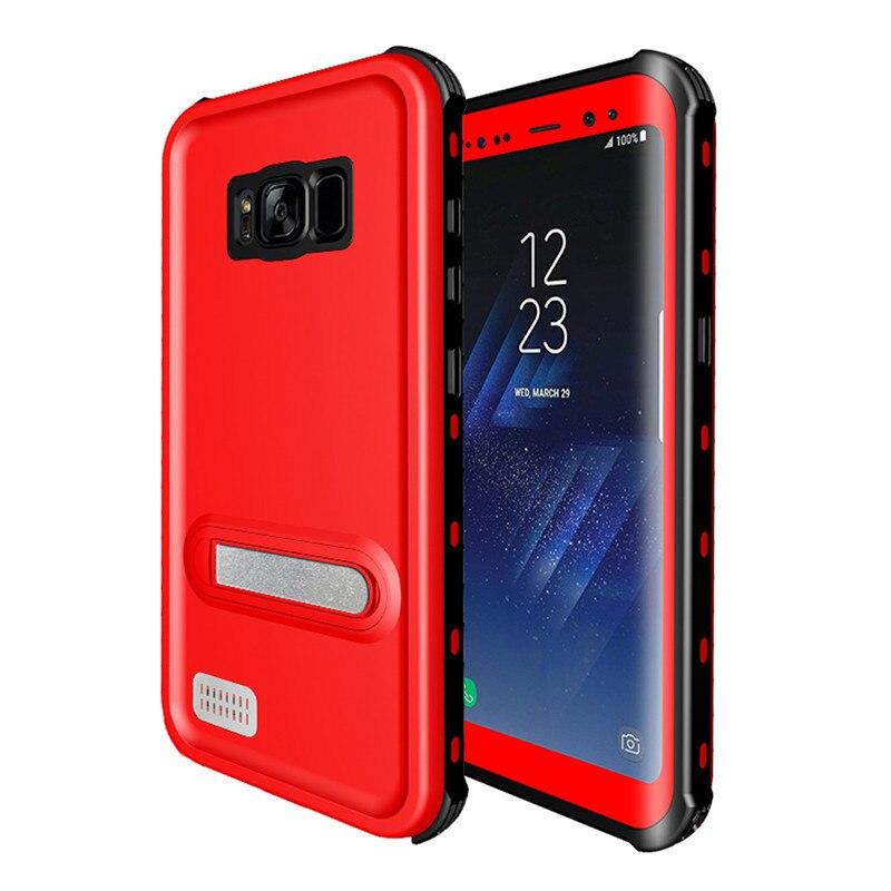 Para Samsung Galaxy S8 Caso À Prova D Água para Samsung S8 Plus Kickstand Completa Proteção Slim Armadura Capa para Samsung Galaxy S8Plus