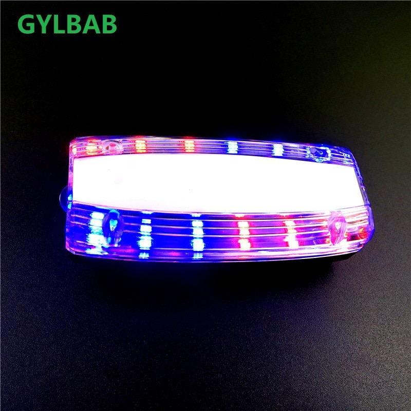 Luz Led de hombro Gylbab, luz intermitente, recargable, advertencia, indicador de marcha para correr de noche, antorcha, lámpara de mano, clip de tráfico