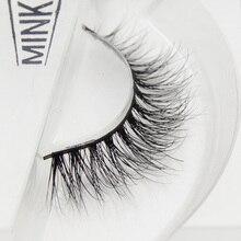 visofree 1 pair 3d mink lashes wholesale  100% real mink fur Handmade crossing lashes individual str