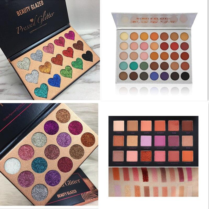 Paleta de sombras de ojos 2018 hudas, paleta de sombras de ojos en polvo con purpurina de 18 colores, Cosméticos de paleta de maquillaje de belleza