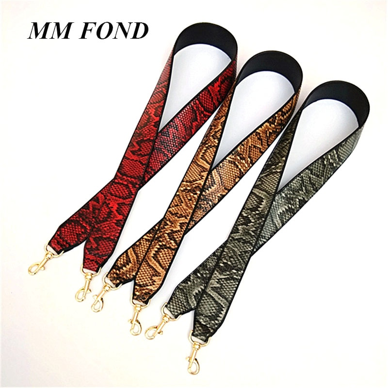 MM FOND phython diseño señora correa de bolso largo ajustable buena calidad Muchos elegantes para elegir cinturones de bolsa cruzada de moda