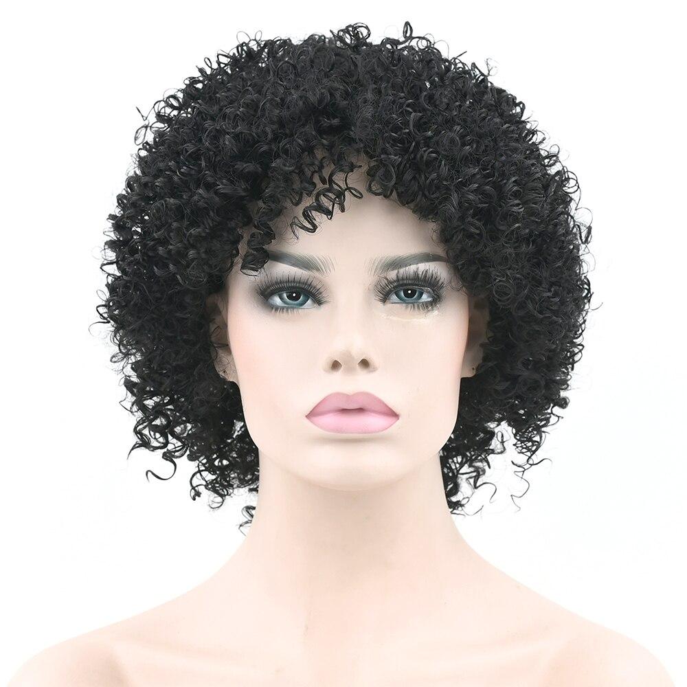 Peluca de pelo sintética negra Natural rizada corta Soowee para mujeres negras estilo de fiesta pelucas Cosplay accesorios para el cabello