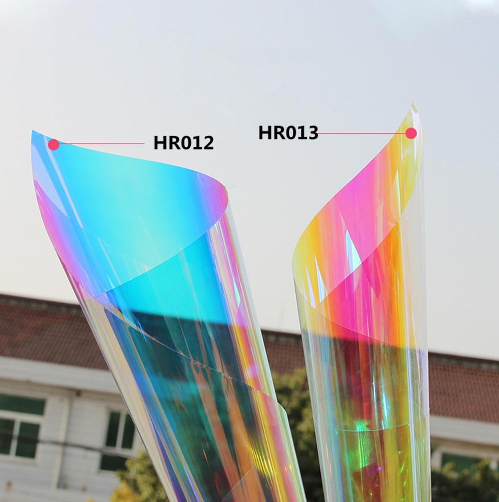 SUNICE, película de tinte Solar, calcomanías adhesivas decorativas, tinte de camaleón, 2 hojas, 50cm x 100 cm, impermeable, autoadhesivo, película a prueba de UV