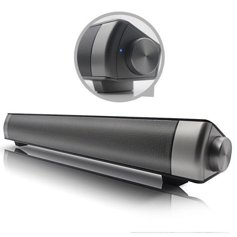 Barra de sonido LP-08 LP08, Altavoz inalámbrico con Bluetooth, Subwoofer, para TV,...