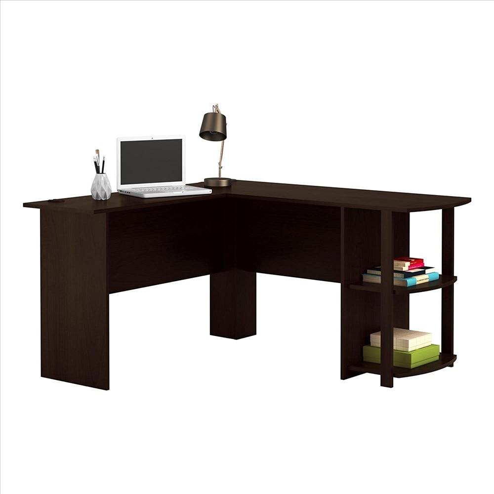 Mesa de PC de escritorio de computadora de tablero de MDF de melamina de EE. UU. Con Cajón Negro Dropshipping