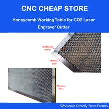 새로운 hq co2 50 w 60 w 레이저 조각기 커터 스탬프 벌집 작업 테이블 플랫폼 400x600mm 4060