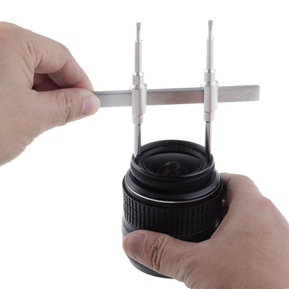 Neewer professionnel double pointe en acier inoxydable DSLR lentille clé clé gamme dobjectif réparation outil douverture pour la plupart des appareils photo reflex numériques