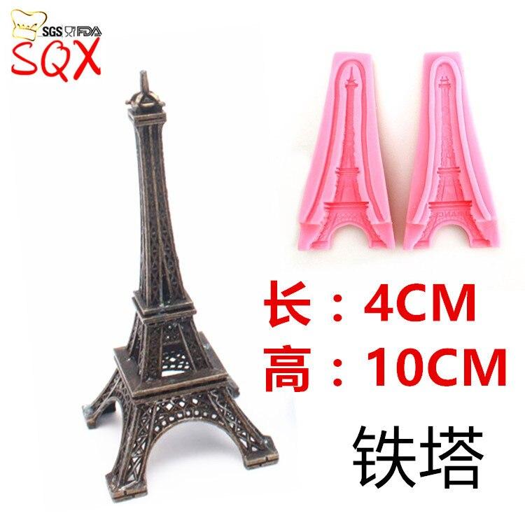3D Eiffelturm Paris silikon fondantform für kuchen dekoration/gum paste schokoladenform kuchen dekorieren tools SQ1695
