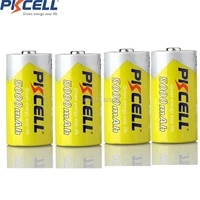 4pcs pkcell nimh rechargeable battery 1 2v c size 5000mah rechargeable battery in nimh chemistry for digital cameras cd player