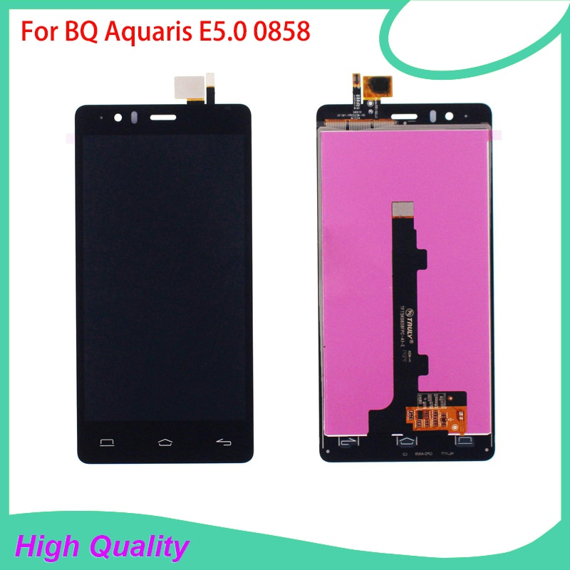 LCD Display Touch Screen Digitizer Assembly For BQ Aquaris E5 BQ E5.0 0858 100% Tested High Quality