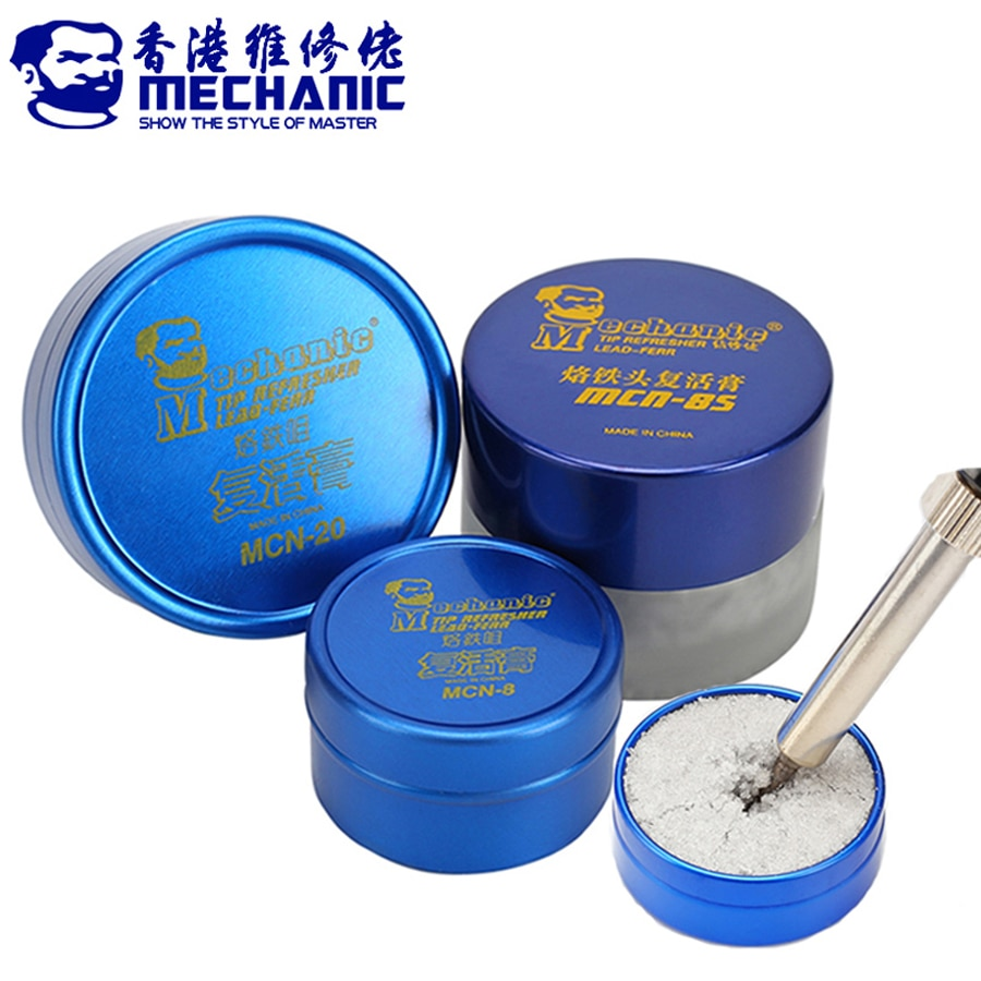 Mecánico de punta de soldadura de actualización limpia pasta para el óxido de punta de hierro de soldadura de la resurrección crema soldadura accesorio