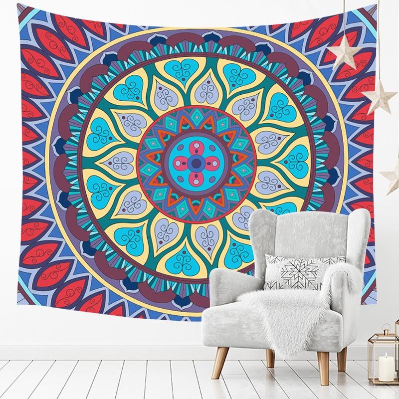 Tapiz decorativo de Mandala pared decoración manta casa 150 cm x 130 cm