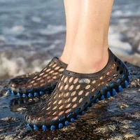 cross border foreign trade 2019 summer new trend jelly hole shoes mens beach casual wading upstream shoes sandals