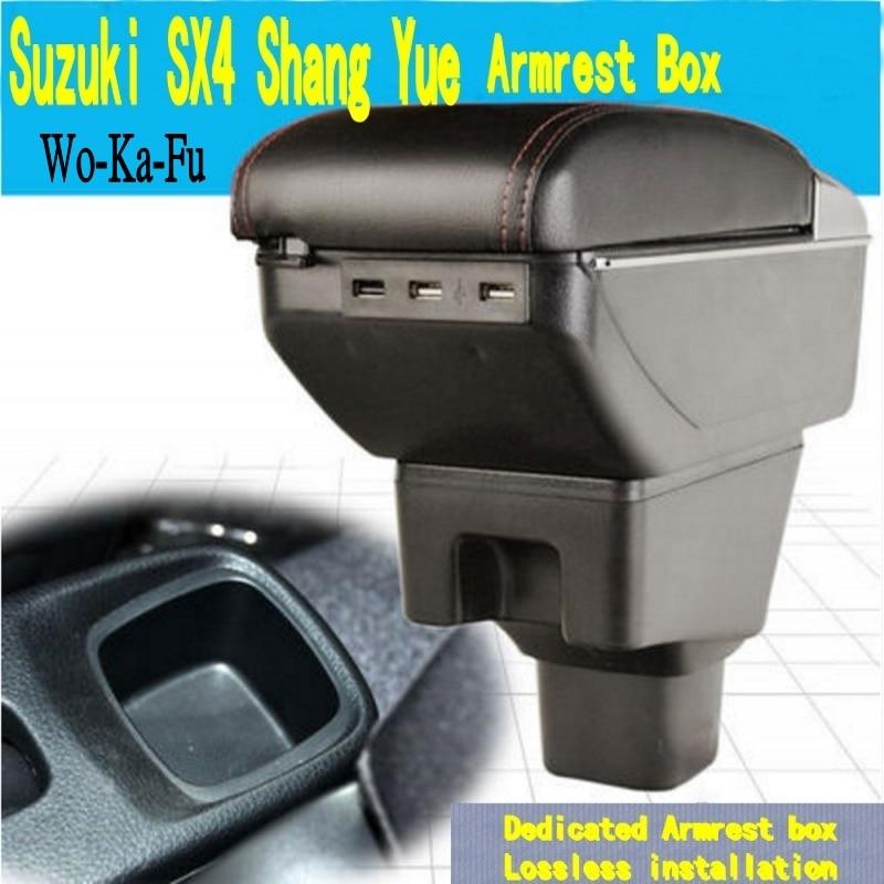 Voor SX4 Armsteun Doos Centrale Winkel Inhoud Doos Met Bekerhouder Asbak Decoratie Producten Accessoires Met Usb Interface