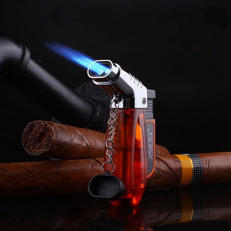 Transparent Visible Gas Lighter Torch Turbo Lighter Cigar Cigarette Lighters supplies Electronic Lig