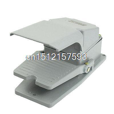 AC 380V 5A NO NC Antislip Momentary CNC Power Treadle Foot Pedal Switch w Guard