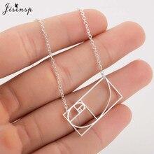 Jisensp Unique mathématiques or Ratio pendentif collier géométrique Choker collier pour femmes hommes étudiant cadeau bijoux femme