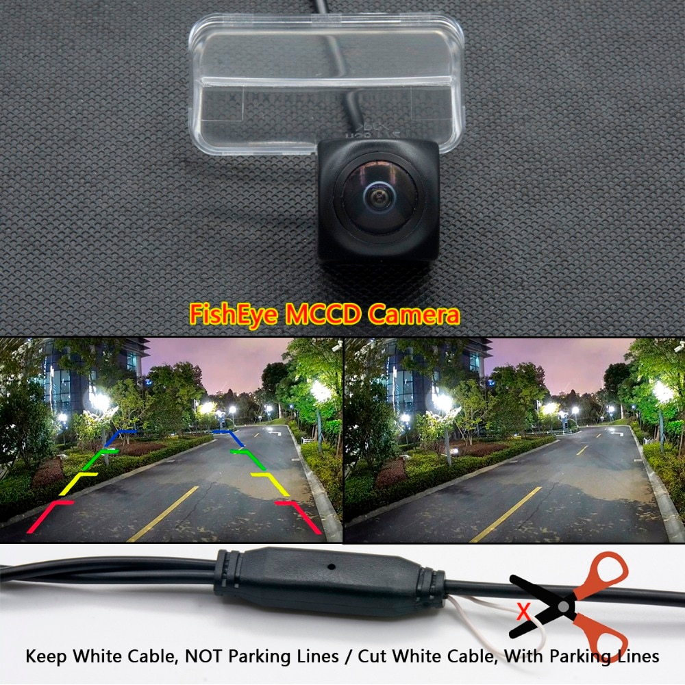 Fisheye 1080 p Starlight MCCD Câmera de visão Traseira Do Carro Para Toyota Verso EZ 2012 Yaris Camry Corolla Vios 2014 Peugeot 206 207 307 407