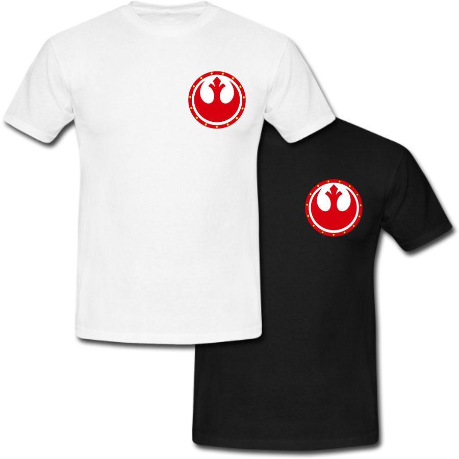 Rebel Alliance Starbird Logo Star Wars El despertar de la Fuerza camiseta 2018 marca de moda para hombres camiseta StreetWear Color sólido corto