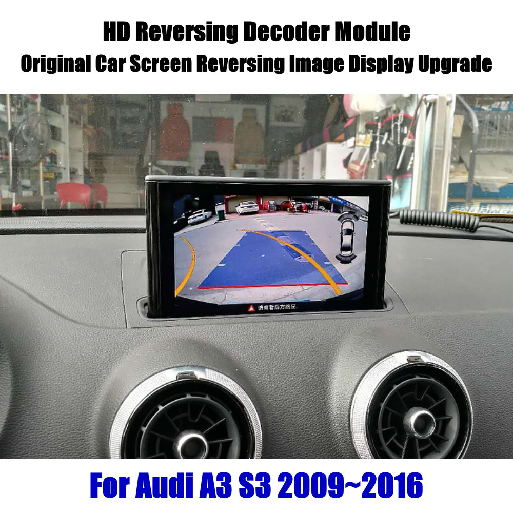 Car Front Rear View Backup Reverse Parking Camera For Audi A3 8P 8V Sportback MMI 3G 2009-2020 2010 Decoder Full HD Accessories