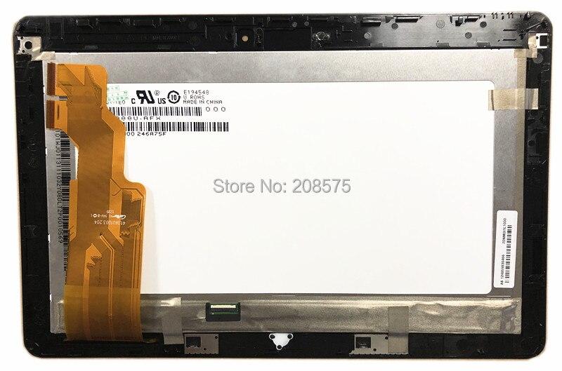 Frete grátis! HV101HD1-1E0 LCD Touch Screen Digitador Assembléia com Frame Para ASUS VivoTab RT TF600T TF600 41.1AU1003.204