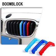 BOOMBLOCK ABS 3 pièces 3D bâches de voiture garniture de calandre Sport bandes M puissance Performance pour BMW F30 F10 F07 G30 F34 autocollants