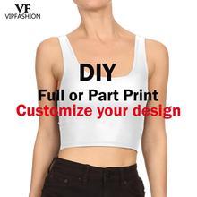 VIP mode livraison gratuite 1MOQ bricolage personnaliser gilet 3D numérique femmes Tos personnaliser propre image élasticité T forme gilet livraison directe