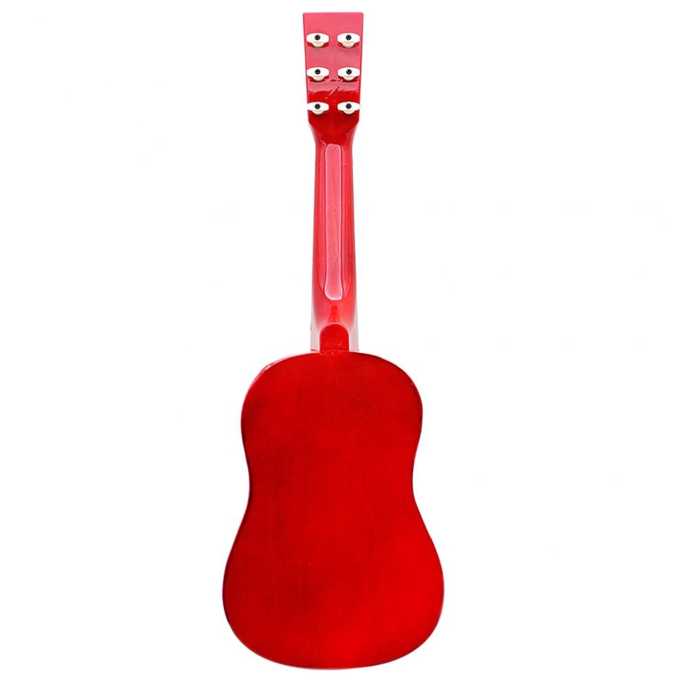 23 Inch 6 Strings Basswood Acoustic Guitar Wood  Guitar Music Instrument for Guitar Music Lovers Gift with Guitar Pick + String enlarge
