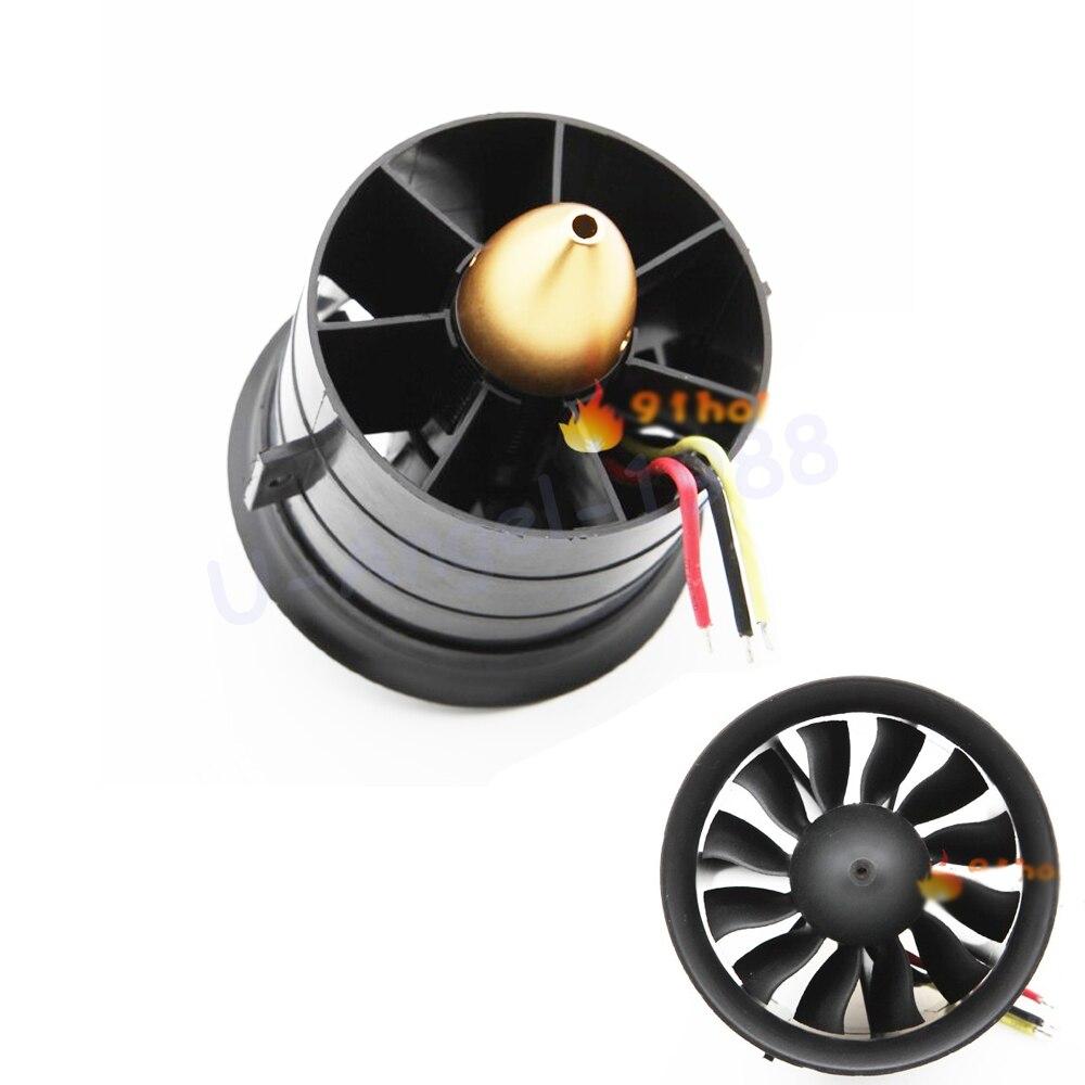 Cambio Sun 70mm ventilador con conductos 12 cuchillas con motor EDF 2839 kv2600 todo el conjunto para Avión Rc