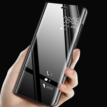 Für Samsung A51 Fall Flip Stehen Klare Ansicht Spiegel Telefon Fall Für Samsung Galaxy A71 A51 A21S Abdeckung A31 M31 m21 Schutzhülle
