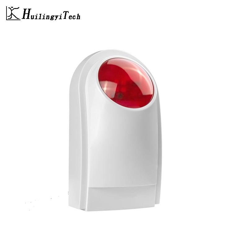 433MHZ Wireless External Outdoor Waterproof Flash Siren Sound Strobe Flash Alarm Siren Wifi GSM PSTN Home Security Alarm System недорого