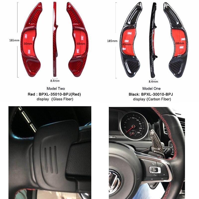 Gerçek Karbon Fiber direksiyon Vites Paddle Shift Volkswagen GOLF 7 için MK7 Scirocco Araba Styling