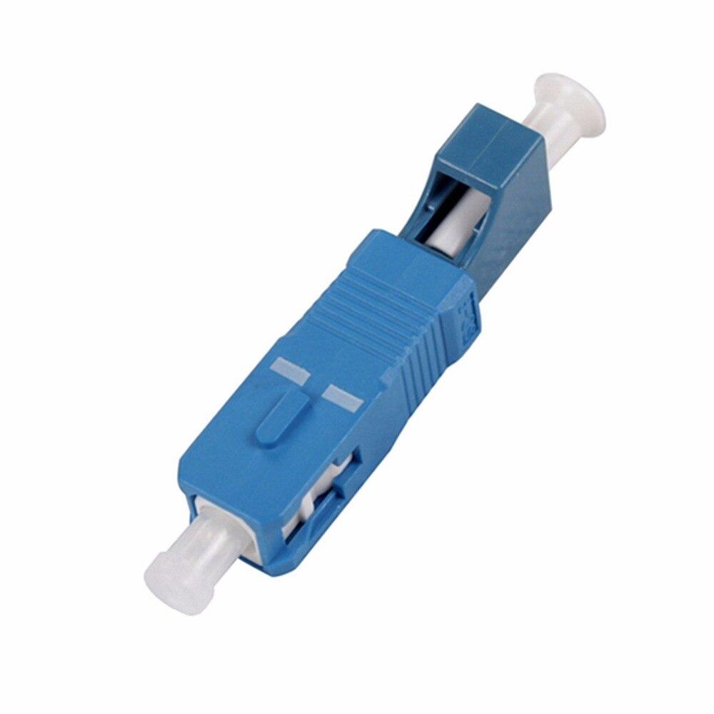 10pcs/lot SC Male to LC Female Adapter Single Mode SM Fiber Optic Connector