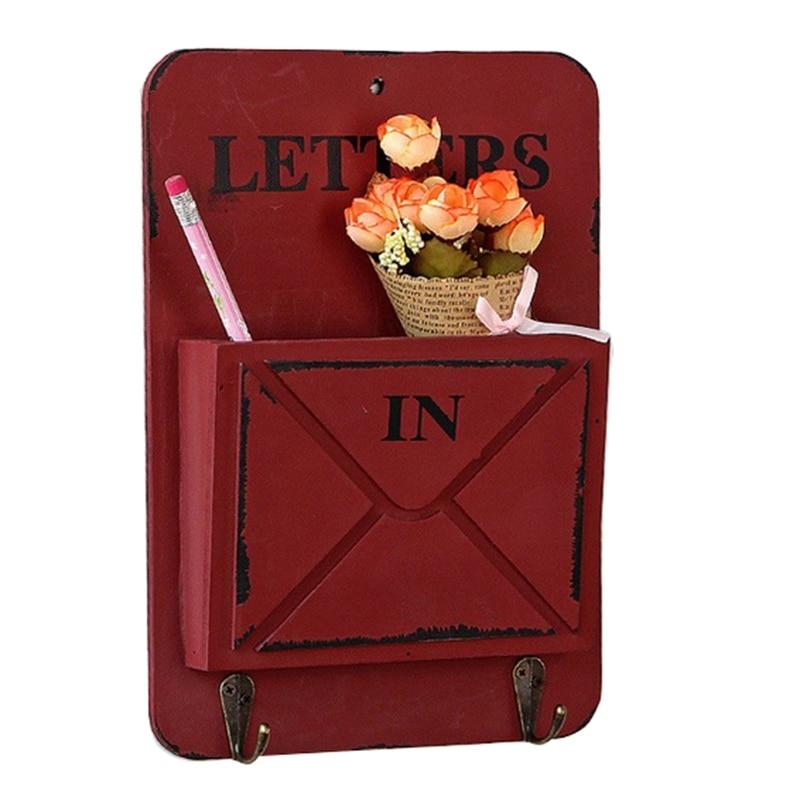 Calidad creativa multifunción ganchos colgantes para llaves caja de almacenamiento de artículos diversos Retro range estante cajas de madera Vintage hogar