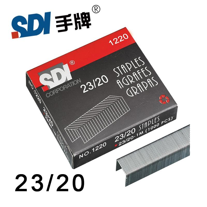 Taiwan SDI 23/20 grapas de alta resistencia en grapas grandes Metal plateado 1000 unids/caja 1220