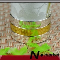 smooth middle gold line napkin ring for wedding round alloy napkin holders hotel
