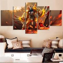 Cuadro con dibujo en HD de 5 piezas, póster de Anime Digimon, póster de Monstruo Digital de Greymon, adhesivo para pared, pinturas en lienzo para decoración de pared