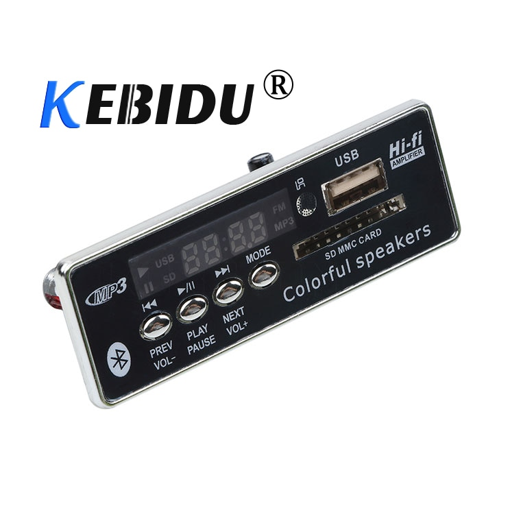 kebidu New Car USB MP3 Player Integrated Bluetooth Handsfree MP3 Decoder Board Module JQ-D028BT Remote Control USB FM Aux Radio