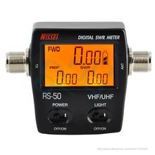 Цифровой SWR/Ватт метр, ниссей 125-525 МГц UHF/VHF M Разъем для TYT Baofeng LED экран Радио счетчик мощности