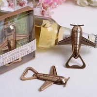 200setslot new arrival high quality let the adventure begin antique airplane bottle opener wedding favors free shipping