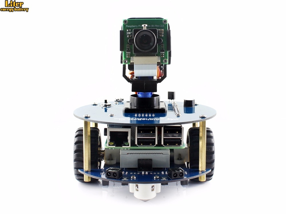 AlphaBot2 kit de robot Original con Raspberry Pi 3 Modelo B/RPi cámara (B) /control remoto IR, obstáculo automático que evita