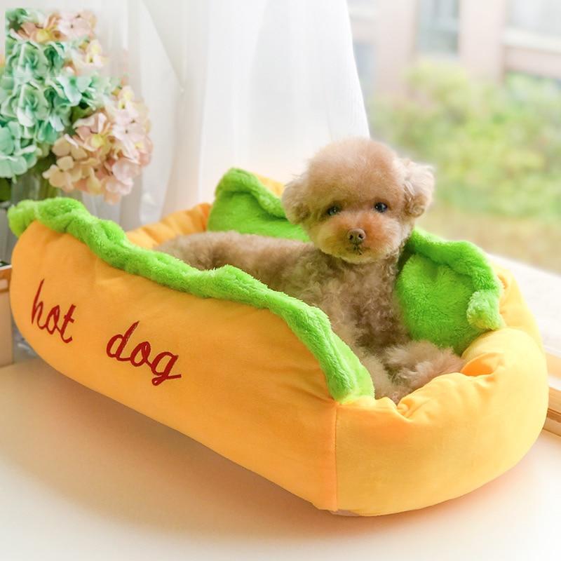 Winter Hot Dog Bed Fashion Soft Pet Cute Dog Bedding For Puppy Small Breeds Animal Yorkov Dachshund Warm Cat Sofa Cushion Supply
