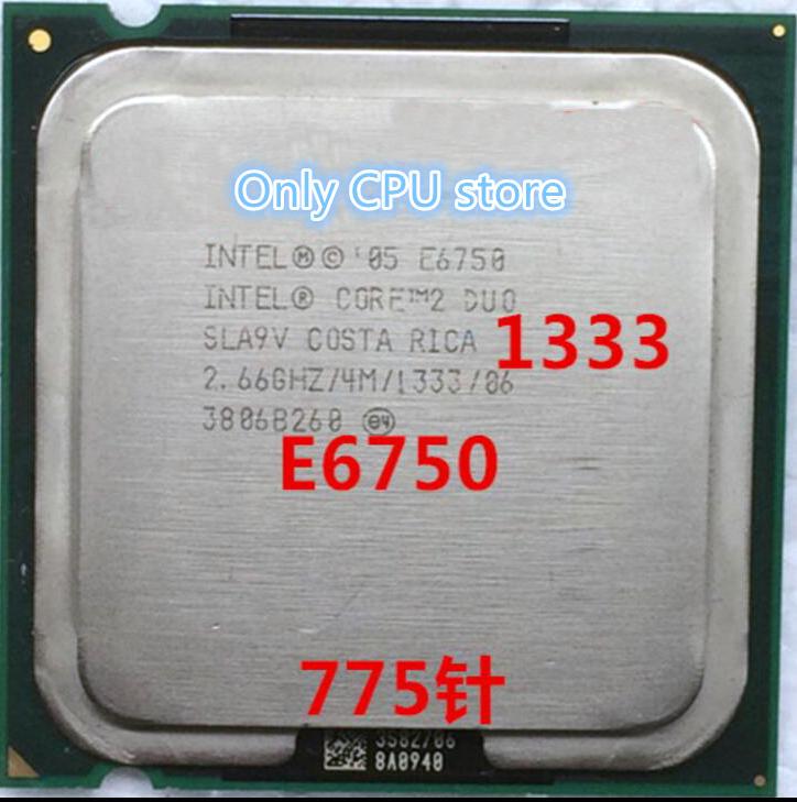 Darmowa wysyłka Core 2 Duo E6750 4MB 2.66GHz 775 Pin czterordzeniowy 65W procesor procssor poszarpane kawałki