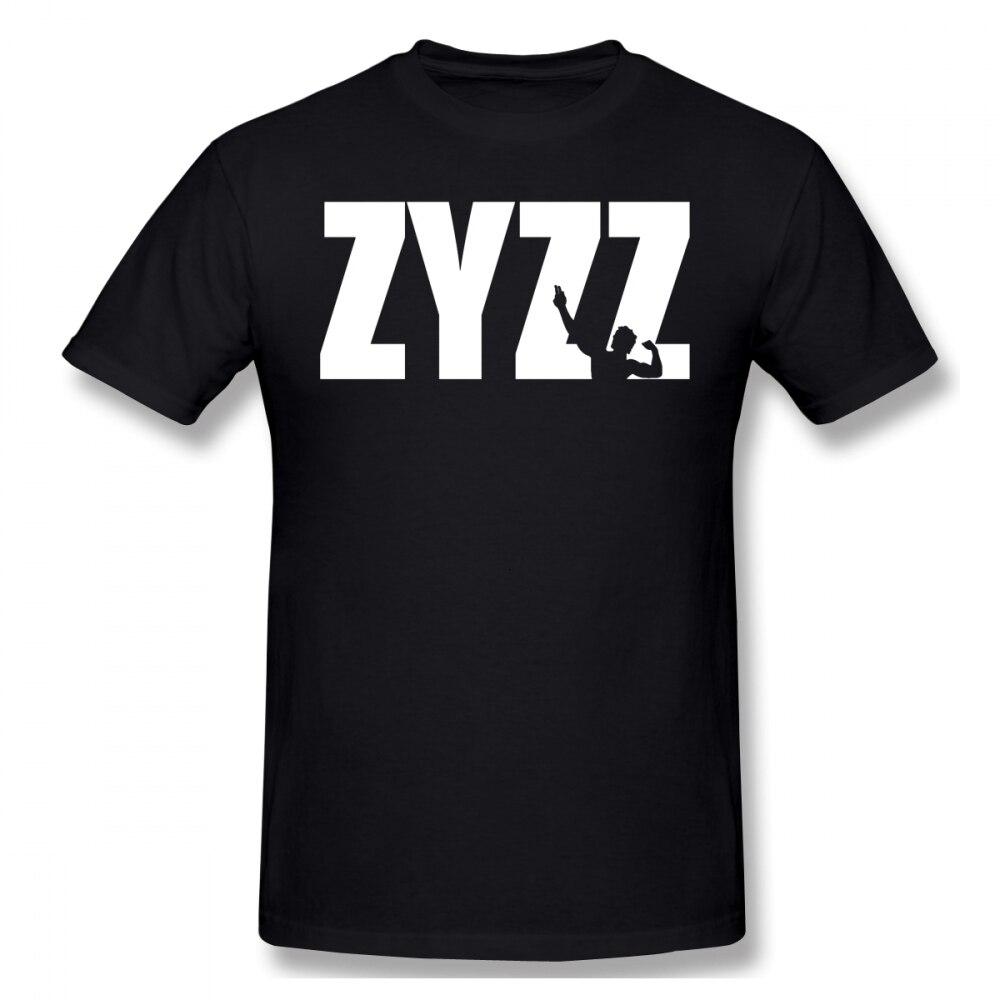 Zyzz camiseta Zyzz texto blanco camiseta divertida para hombre Camiseta de manga corta de gran tamaño clásico 100 por ciento algodón impreso camiseta